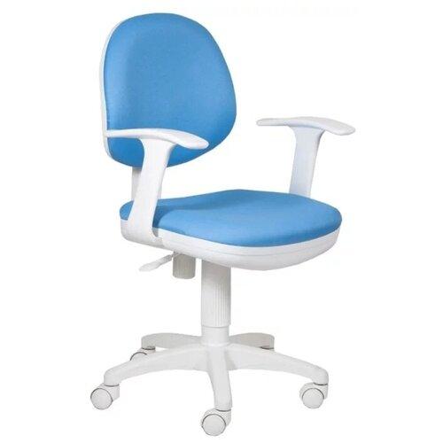 Компьютерное кресло Бюрократ CH-356AXSN детское, обивка: текстиль, цвет: голубой 15-107 компьютерное кресло бюрократ ch w797 abstract детское обивка текстиль цвет мультиколор абстракция
