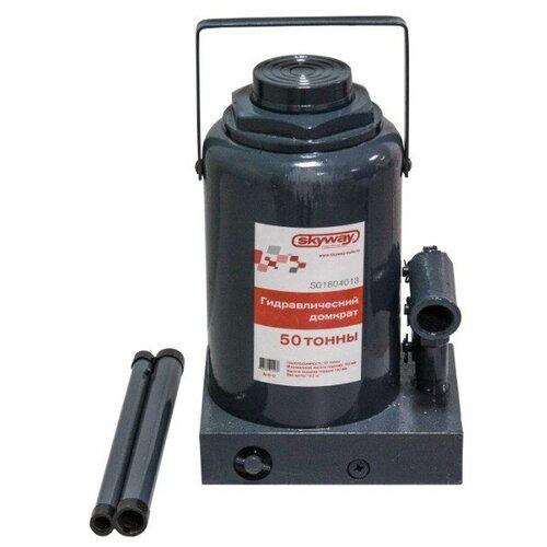 Домкрат автомобильный гидравлический бутылочный, с клапаном, 50 т, h 285-465мм, SKYWAY