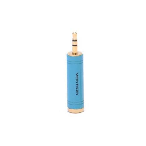Фото - Адаптер Vention jack 6.3 mm F - mini jack 3.5 mm M (VAB-S04-L), голубой кабель vention jack 3 5 mm m jack 3 5 mm f vab b06 b 0 5 м черный