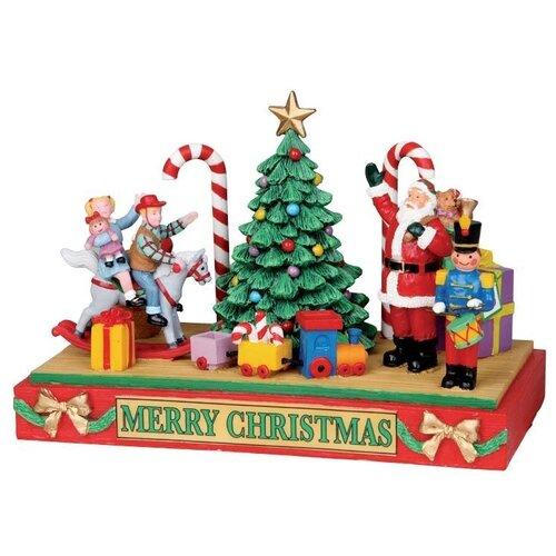 фигурка lemax платформа с рождественскими игрушками 10 4 x 18 x 10 см красный зеленый Сувенир Композиция Платформа с рождественскими игрушками