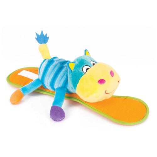 Купить Подвесная игрушка Happy Snail Бегемот Бубба (14HSK03BU) голубой/оранжевый, Подвески