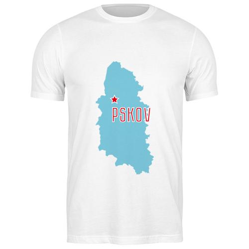 Футболка классическая Псковская область #2194423 (цвет: БЕЛЫЙ, пол: МУЖ, качество: ЭКОНОМ, размер: M)
