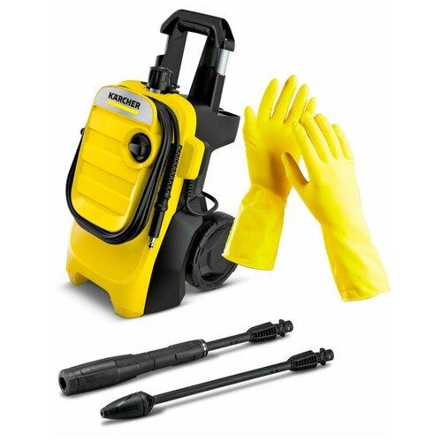 Минимойка Karcher K 4 Compact EU + латексные хозяйственные перчатки недорого