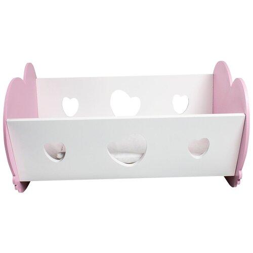 PAREMO Кроватка-люлька для кукол (PFD120) розовый