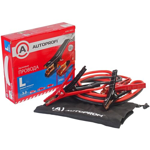 Пусковые провода AUTOPROFI AP/BC-3000 L, 300А, 3 м