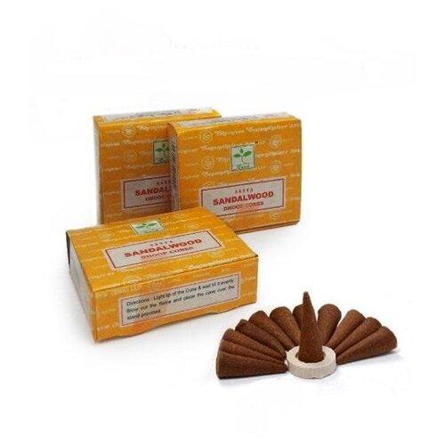 Фото - Набор благовония конусы SATYA Sandal wood Сандал, 3 упаковки благовония сандал hamsa bala 15 г