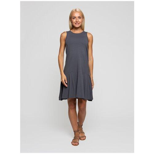 Женское легкое платье сарафан, Lunarable серое, размер 48