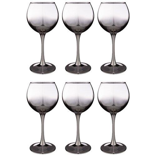 Набор бокалов из 6 шт графитовый омбре 350 мл Lefard (194-480)