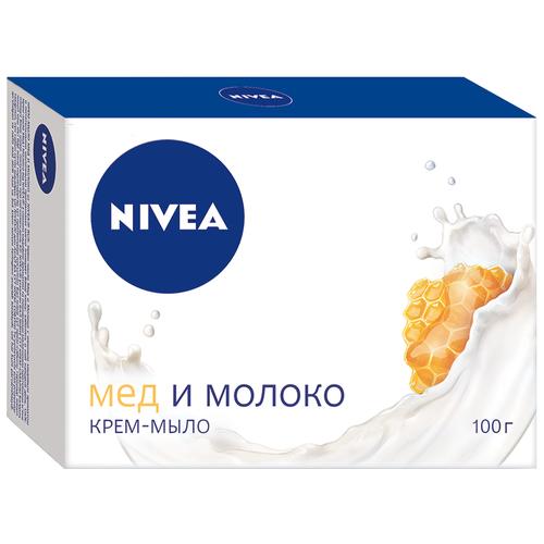 Фото - Крем-мыло кусковое Nivea Мед и молоко, 100 г мыло кусковое nivea свежесть морских минералов 90 г 5 шт