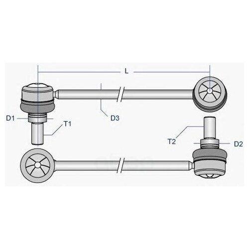h parker 4 compositions op 36 Тяга Стабилизатора Opel Astra H//Zafira B Пер.Подв.Лев/Прав.(Ids) Moog арт. OP-LS-2821