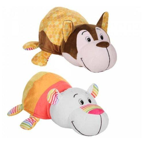 Мягкая игрушка 1 TOY Вывернушка Ням-Ням Хаски-Полярный мишка с ароматом 35 см