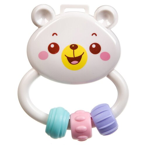 Прорезыватель-погремушка BONDIBON Baby You ВВ3209 Медвежонок белый недорого
