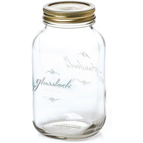 Фото - Glasslock Банка для хранения IP-627 1000 мл прозрачный/бронза банка для хранения солений ягод варенья 4 л 16х13 5х29 см ip 636 glasslock