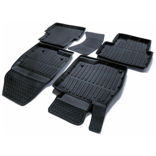 Фото - Комплект ковриков салона SRTK PR.MZ.3.13G.02X57 для Mazda 3 5 шт. черный 2 комплект ковриков салона srtk pr w pas b7 11g 02023 5 шт черный
