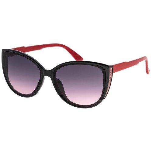 Солнцезащитные очки женские/Очки солнцезащитные женские/Солнечные очки женские/Очки солнечные женские/21kdglan905318c3vr черный,фиолетовый/Vittorio Richi/Кошачий глаз/модные