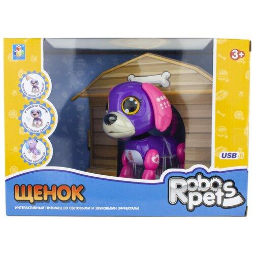 Фото - Робот 1 TOY Robo Pets Щенок Т16799 фиолетовый/розовый робот 1 toy robo pets котёнок белый голубой