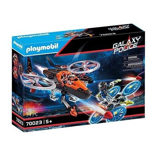 Купить Конструктор Playmobil Galaxy Police 70023 Вертолет пиратов Галактики, Конструкторы