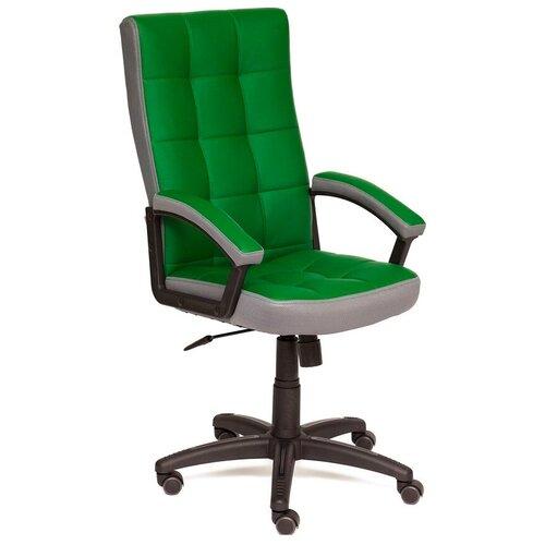 Фото - Компьютерное кресло TetChair Тренди для руководителя, обивка: текстиль/искусственная кожа, цвет: зеленый/серый компьютерное кресло tetchair багги обивка текстиль искусственная кожа цвет черный серый