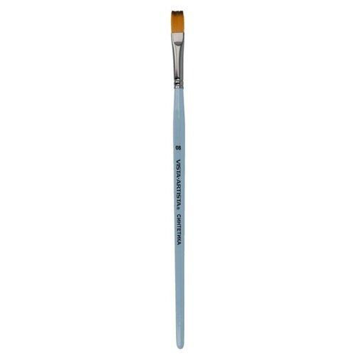 Купить Кисть Vista-Artista синтетика, плоская, 10 шт, короткая ручка, №08 (50232-08), Кисти