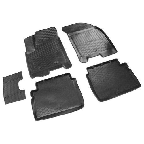 накладки порогов rival для ravon r4 2016 4 шт Комплект ковриков салона RIVAL 11001004 для Chevrolet Aveo, Ravon Nexia R3 5 шт. черный