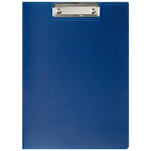 Attache Папка-планшет с зажимом и крышкой A4, пластик синий