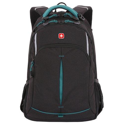 Фото - Рюкзак SWISSGEAR, черный/бирюзовый, фьюжн/2 мм рипстоп, 32x15x46 см, 22 л рюкзак swissgear 32x15x46 см 22 л черный