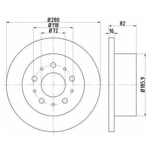Фото - Тормозной диск Textar 92157403 для Citroen JUMPER; Fiat DUCATO; Peugeot BOXER тормозной диск задний miles k010676 280x16 для citroen jumper fiat ducato peugeot boxer