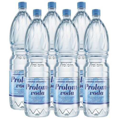Вода минеральная Prolom лечебно-столовая негазированная, ПЭТ, 6 шт. по 1.5 л