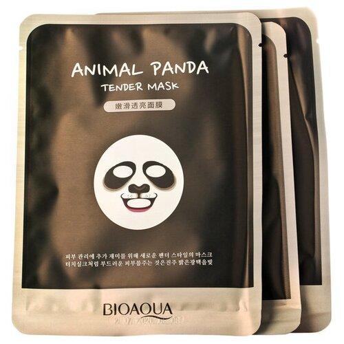 BioAqua Animal Face Panda Смягчающая тканевая маска для лица, 30 г, 3 шт. недорого