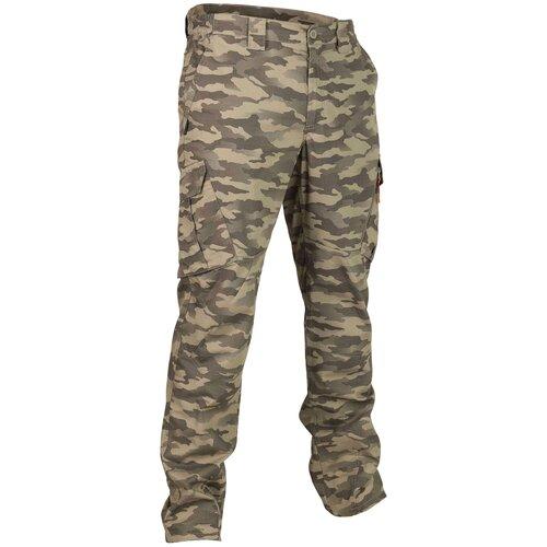 Брюки мужские тактические Sg500 камуфляж, размер: 2XL, цвет: Хаки SOLOGNAC Х Декатлон