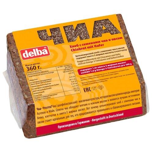 Delba Хлеб с семенами чиа и овсом, ржаная мука, цельнозерновой, в нарезке, 360 г