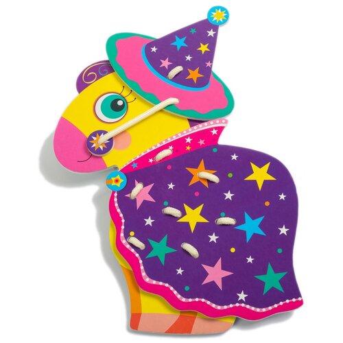 Шнуровка Дрофа-Медиа Лошадка (3832) фиолетовый/розовый дрофа медиа фигурная мозаика лошадка 3219