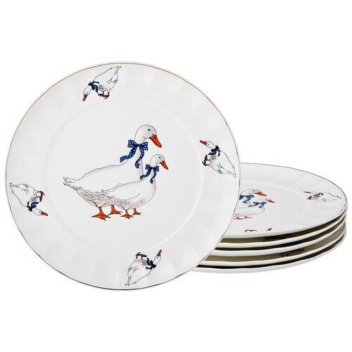 Набор подстановочных тарелок гуси из 6 шт 26,5 см Lefard (133300) недорого