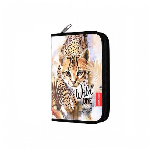Купить ErichKrause Пенал Wild Cat (48505), бежевый, Пеналы