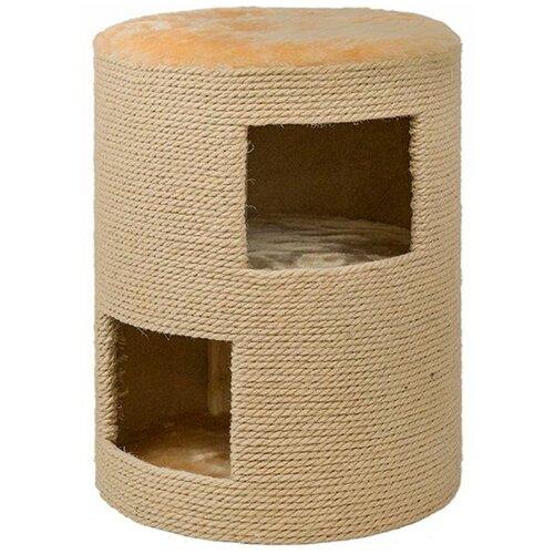 Когтеточка Дарэлл Тумба двухэтажная джут 36,5 х 36,5 х 50 см (1 шт) игрушка для грызунов дарэлл кубик малый деревянный 10 х 10 х 11 5 см 1 шт