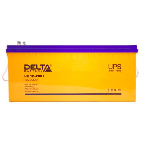 Фото - Аккумуляторная батарея DELTA Battery HR 12-200 L 200 А·ч аккумуляторная батарея delta battery gel 12 33 33 а·ч