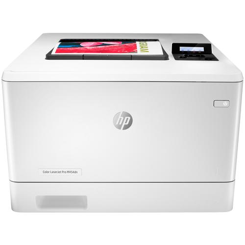 Принтер HP Color LaserJet Pro M454dn, белый