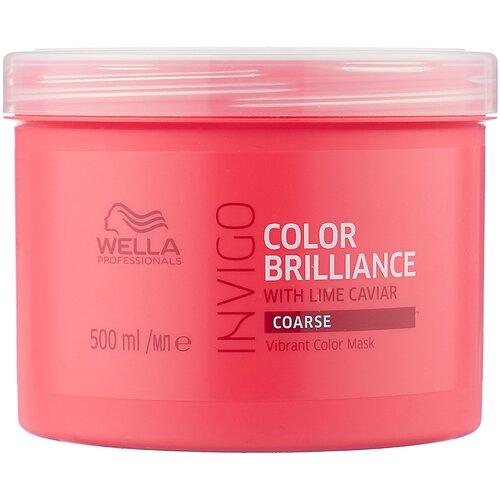 Wella Professionals INVIGO COLOR BRILLIANCE Маска-уход для защиты цвета жестких волос, 500 мл