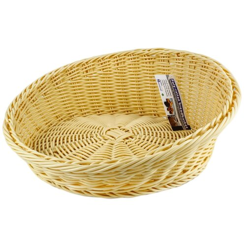 Корзинка для хлеба Gastrorag плетеная круглая 2020A, бежевый