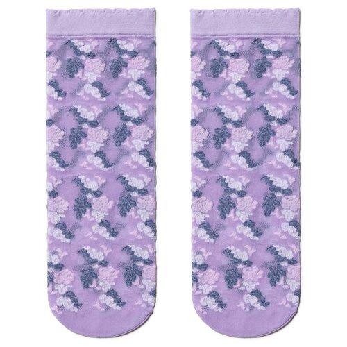 Капроновые носки Conte Elegant 19С-113СП, размер 23-25, blue-violet