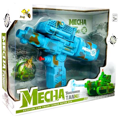 Купить Трансформер Mecha: танк + водный пистолет D622-H058 28х22х8см, Dade Toys, Роботы и трансформеры