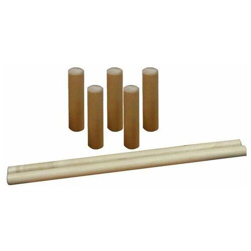 Купить Городки Kidwood (013019) коричневый, Спортивные игры и игрушки