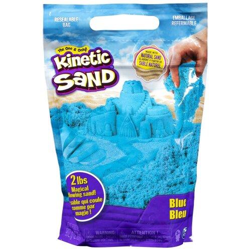 Кинетический песок Kinetic Sand большой (6047182/6047183/6047184/6047185), голубой, 0.91 кг, пакет