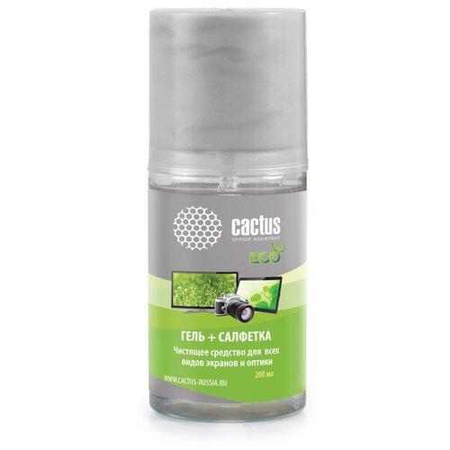 Набор cactus CS-S3004E чистящий гель+многоразовая салфетка