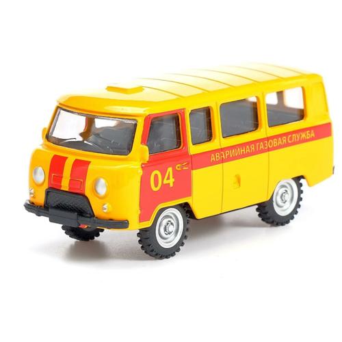 Фото - Микроавтобус Автоград Газовая служба (3527636) 1:43, оранжевый автоград машина металлическая микроавтобус пожарная служба инерция 1 43 sl 01428k 3527632