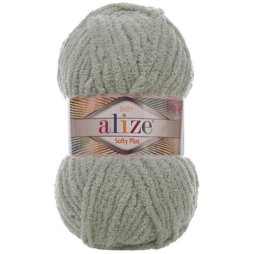 Купить Пряжа для вязания Ализе Softy Plus (100% микрополиэстер) 5х100г/120м цв.296 серый, Alize