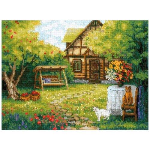 Фото - Риолис Набор для вышивания крестом Загородный домик 40 x 30 см (1845) риолис набор для вышивания крестом русская охота 60 x 40 1639