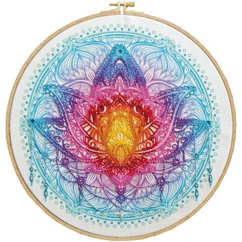 Купить Набор для вышивания бисером АБРИС АРТ AB-807 Цветок Востока 33х33 см, ABRIS ART, Наборы для вышивания