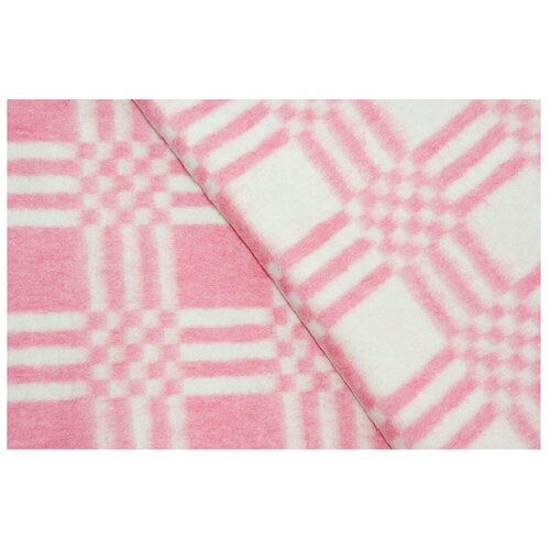 Красный Комбинированная клетка Байковое 100х140 арт. 57-3ЕТ 90% х/б Ермолино одеяло