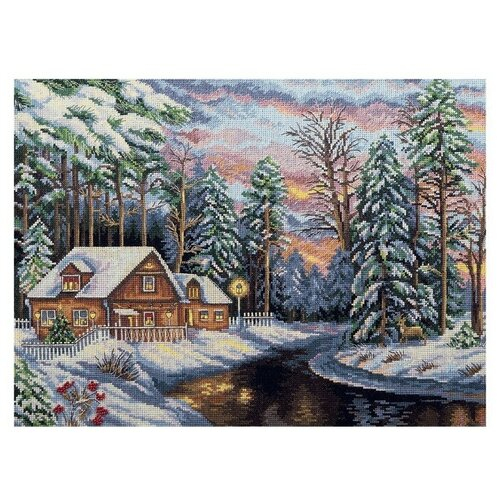 Купить PANNA Набор для вышивания Золотая серия.Тихий сочельник 40 х 28.5 см (ПС-1755), Наборы для вышивания